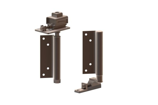 Article No. 09831Top & bottom pivot assembly, satin stainless steel