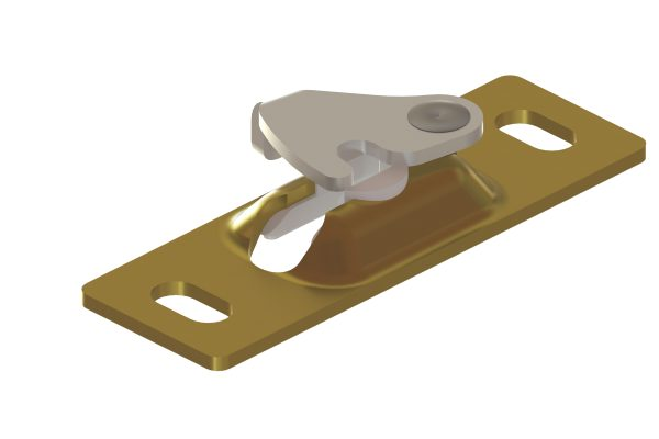 Article No. 61605Hideaway hanger plate c/w 2 screws