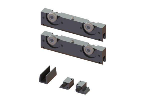 Article No. 51176Flexiglas fitting set, anodized aluminium, 120kgs