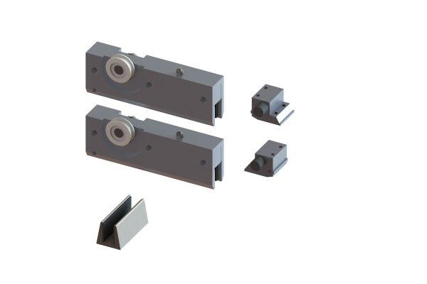 Article No. 51272Flexiglas fitting set, satin stainless steel, 50kgs