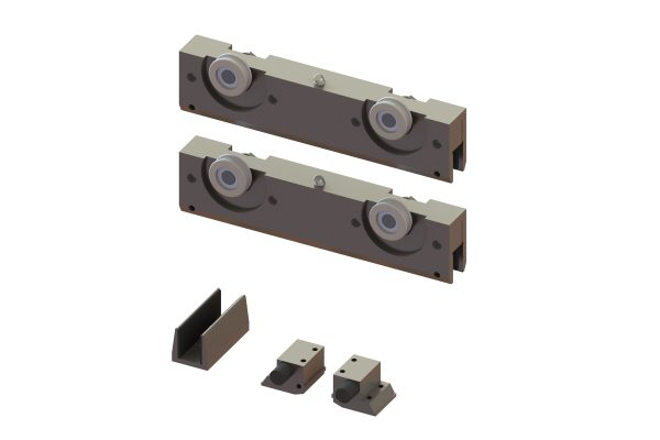 Article No. 51276Flexiglas fitting set, satin stainless steel, 120kgs