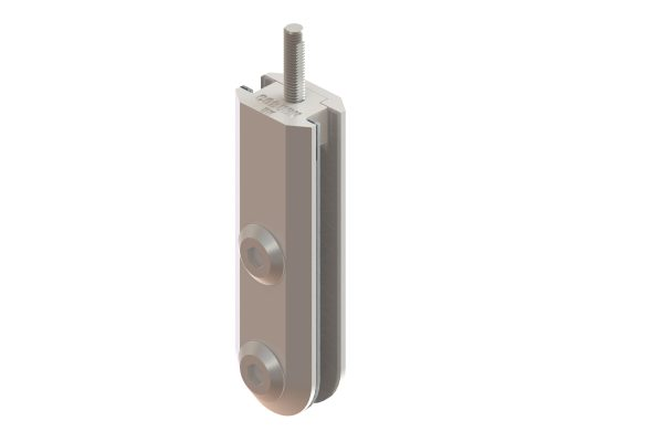 Article No. 52111G130 patch fittings, satin stainless steel, 130kgs (10/12mm glass)
