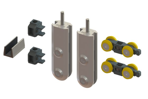 Article No. 52112G130 patch fitting set, satin stainless steel, 130kgs (10/12mm glass)