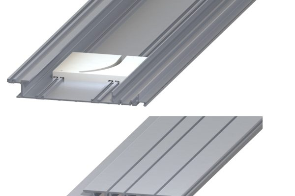 Article No. 83120Flushslide top & bottom rail, natural anodized aluminium, 2000mm