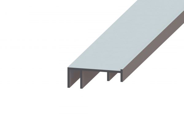 Article No. 85240Eclat 80 bottom rail, anodized aluminium, 4000mm