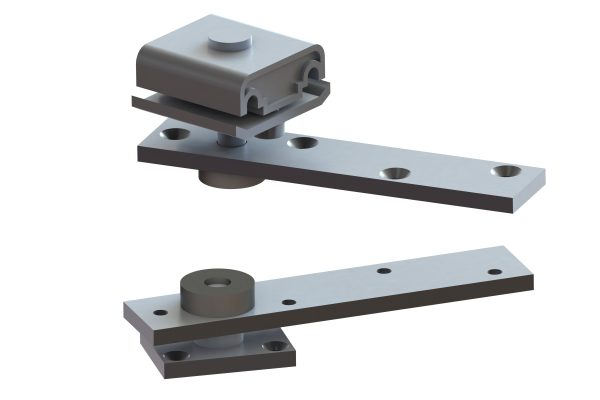 Article No. 95519Top & bottom pivot assembly, zinc plated