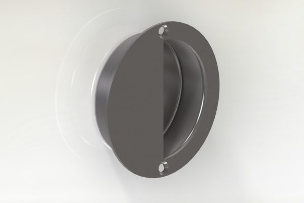 95625 SS FLUSH HANDLE 90MM ROUND